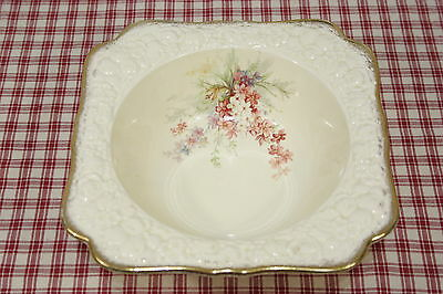 Crown Ducal Florentine PICARDY Square Open Vegetable Bowl  EXC!  (A1)