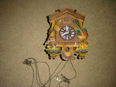 Vintage Made In Germany Cuckoo Clock As Pictured For Repair Or Parts Very Nice