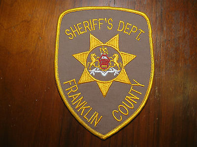 Franklin County Pennsylvania Sheriff/police Patch (Version One)