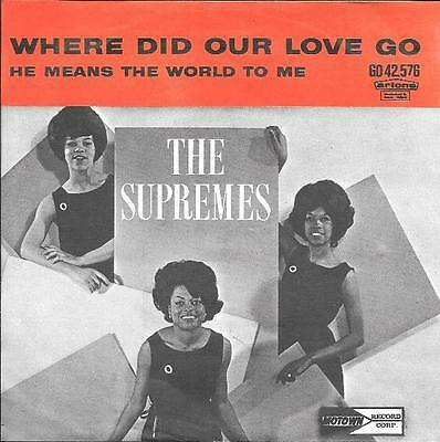 The Supremes 45 Where Did Our Love Go+Ps Holland Rare Motown