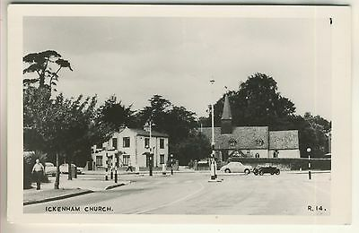 A Real Photo Post Card of Ickenham Church. Middlesex.
