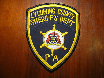 Lycoming County Pennsylvania Sheriff/police Patch (Version Two)