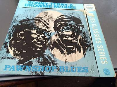 """SONNY TERRY AND BROWNIE MCGHEE Pawnshop Blues 7"""" VINYL 1964 4 Track EP-REP4002"""