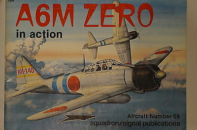 WW2 Japanese A6M Zero In Action Squadron Signal Aircraft 59 Reference Book