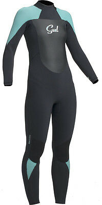 Gul Ladies 5Mm Response Wetsuit 5/3Mm Black Pistachio Surfing Sailing Size 12-14