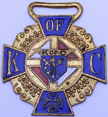 Vintage Knights of Columbus Gold-Coloured Medal / Pendant