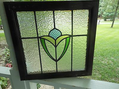 M10-161 Older Pretty Multi-Color English Leaded Stain Glass Window Last One!!