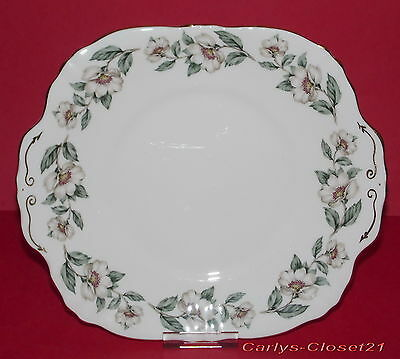 CROWN Staffordshire * Fine Bone China Cake Plate * Christmas Rose Design *