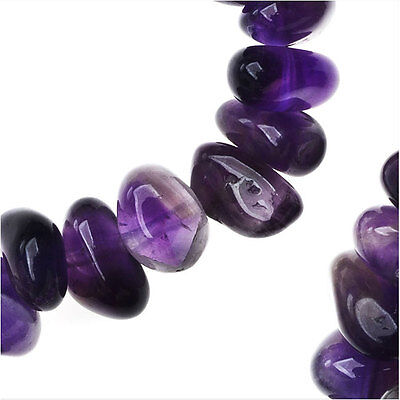 Amethyst Gemstone Beads, Smooth Nuggets 7-10mm 15.5 Inches, 1 Strand, Purple