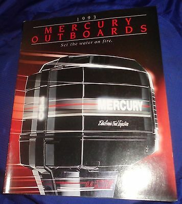 BS541 Vtg 1993 Mercury Outboards Dealer Sales Brochure