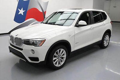 2017 BMW X3 xDrive28i Sport Utility 4-Door 2017 BMW X3 XDRIVE28I AWD PANO SUNROOF NAV 10K MILES #T20696 Texas Direct Auto