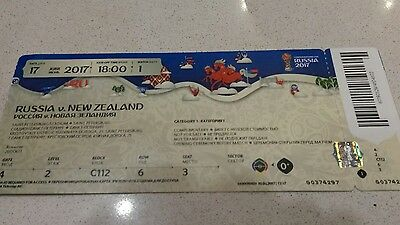 Ticket Fifa Confed Cup 2017 Match 01 Russia / Russland - New Zealand  (mint )