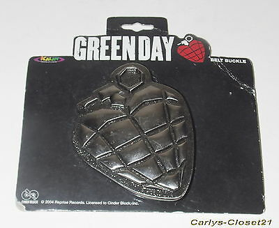 GREEN DAY * Official Metal Belt Buckle * Heart Grenade *