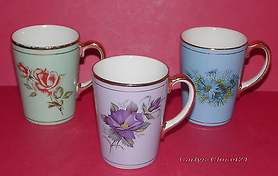 DENBY DALE PIE * 3 Collectable Mugs * Sept 5th 1964 * 10cm Tall *