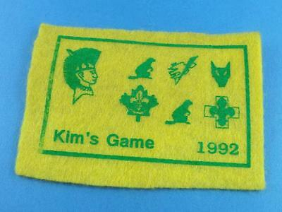 Wolf Boy Scouts Beavers   Felt Patch Kim's Games 1992 Collector Badge