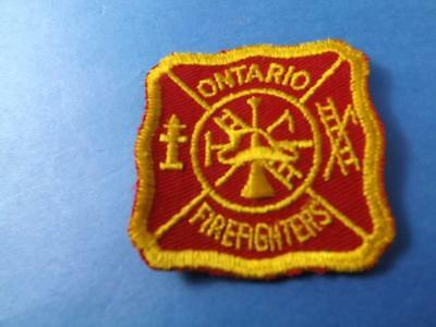 Ontario Firefighters  Vintage Patch Uniform Souvenir Canada Collector