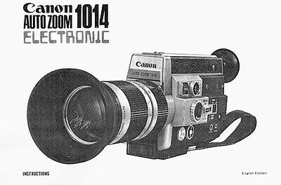 Instruction Manual for Canon Auto Zoom 1014 Electornic