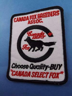 Canada Fox Breeders Assoc  Patch Quality Select Buy Vintage Club Badge
