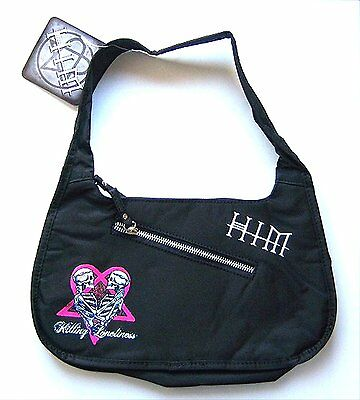 """Him H.i.m. Killing Loneliness """"twin Hands"""" Blk Hand Bag Purse New Nwt Official"""