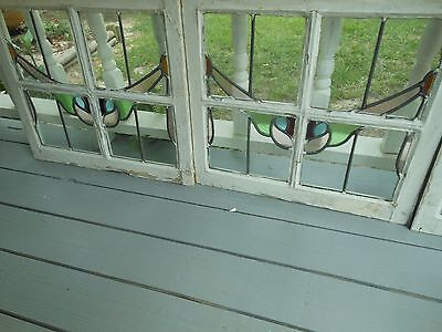 L115 Very Pretty Older Leaded Stained Glass Window From England 3 Available