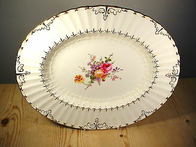 """Royal Crown Derby """"Ashby"""" Oval Meat Platter A945"""