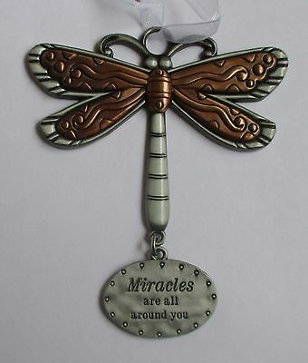 c Miracles are all around you DRAGONFLY Let your Spirit Soar ORNAMENT ganz