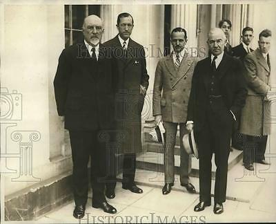 1929 Press Photo Tennis World Notables who invited President and Mrs. Hoover