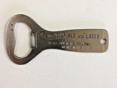 Cremo Ale & Lager Metal Advertising Bottle Top Opener Cremo Brewing Co. Conn.