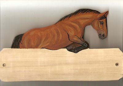 Jumping horse stable/stall/barn name plate/plaque/sign personalised gift
