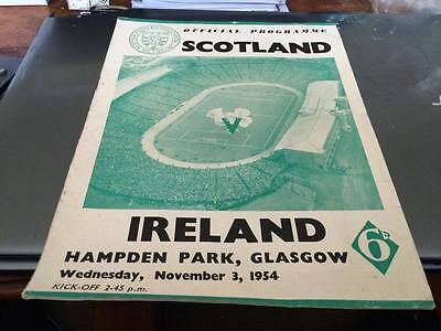 Scotland V Ireland--International Football Programme--3Rd November 1954