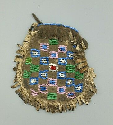 19th Century Native American Beaded Medicine Pouch # 4