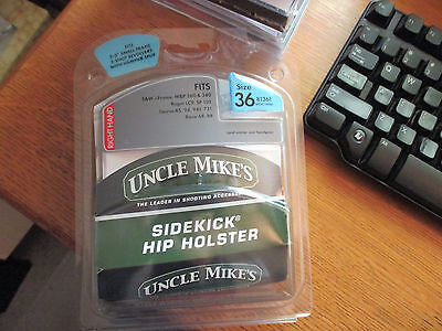 UNCLE MIKE'S SIDEKICK HIP HOLSTER Fits small handguns SIZE 36 right hand NEW