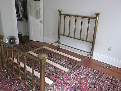Antique / Vintage Full Sized Brass Bed, heavy weight brass