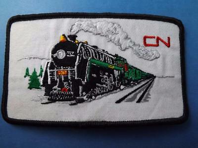 Cn Railroad Locomotive Vintage Patch Railway Train Canadian National Collector