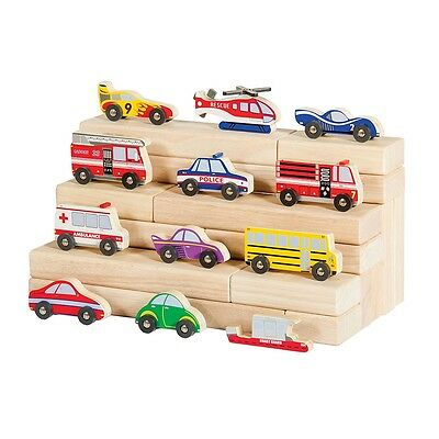 Guidecraft - Wooden Vehicle Collection Set Of 12