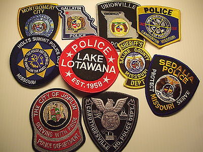 police patch  LOT OF 10 POLICE PATCHES MISSOURI