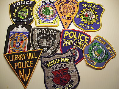 police patch  LOT OF 10 POLICE PATCHES NEW JERSEY