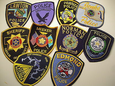 police patch  LOT OF 10 POLICE PATCHES OKLAHOMA