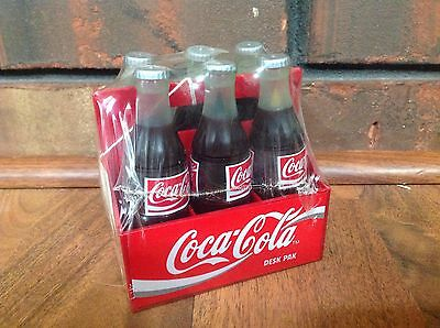 Vintage Brand New COCA COLA 6-Pack Bottle Desk Pak 1995