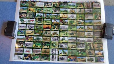 John Deere Uncut Sheet Numbered 18/1000 Cards  from 1 to 100