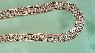 indian gold plated party /wedding long necklace ranee haar