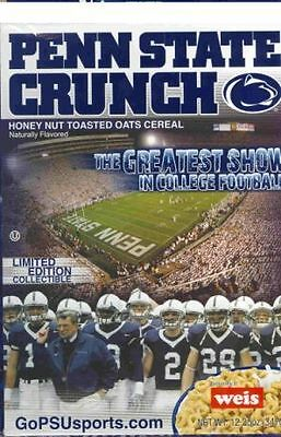 Paterno, Penn State Nittany Lions Crunch Cereal Box