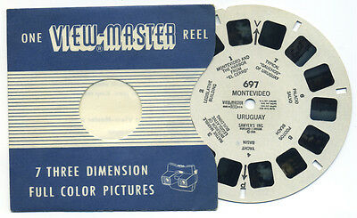 Montevideo Uruguay 1946 Sawyer's ViewMaster Single Reel 697