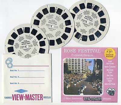 Rose Festival Portland Oregon 1959 ViewMaster Reels Only and Copy of Front Cover