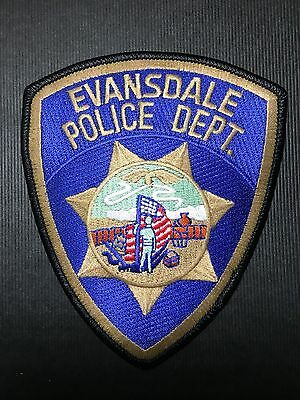 Evansdale  Iowa  Police  Shoulder  Patch