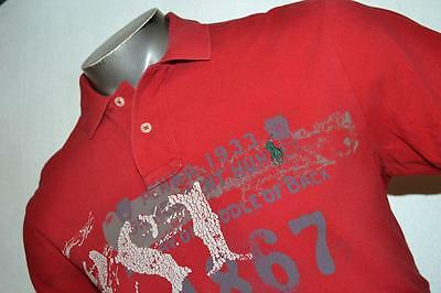 3666-c Mens Ralph Lauren Polo Shirt 100% Cotton Size Large Custom Fit Red