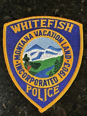 """Whitefish Police - Montana - USA - """"MONTANA VACATION LAND"""" - Old Style Patch"""