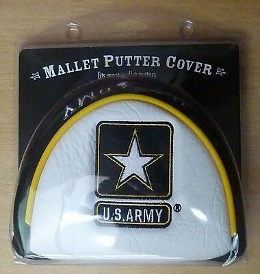 U.S. ARMY USA Mallet Putter Golf Club Head Cover, Embroidered