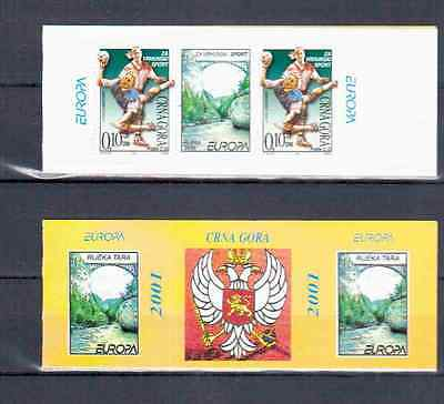 Serbia Booklet Europa 2001 Mnh
