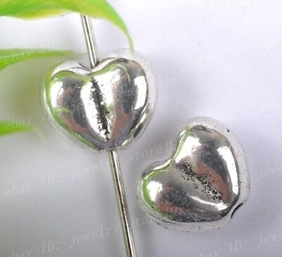 15PCS Tibetan Silver heart shape Spacer Beads 9X8MM JK1095